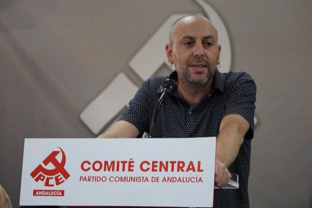 El secretario general del PCA, Ernesto Alba