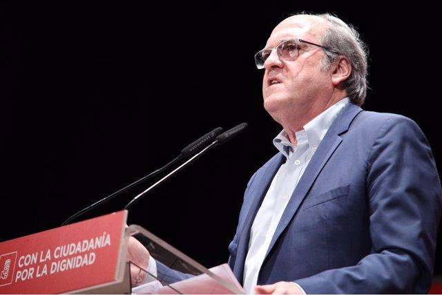 Ángel Gabilondo en su intervención durante el acto 'Un proyecto para Madrid'