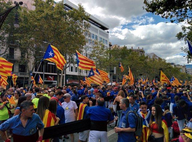 Manifestación de la Diada 2017 en Barcelona