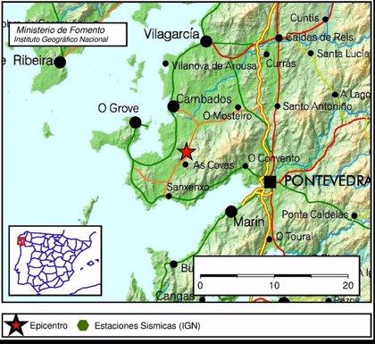 La provincia de Pontevedra registra ocho terremotos en unas horas