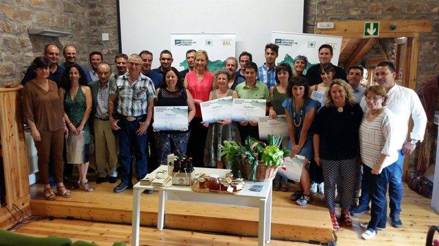 Participantes y colaboradores en el Programa de Emprendimiento Rural Sostenible.