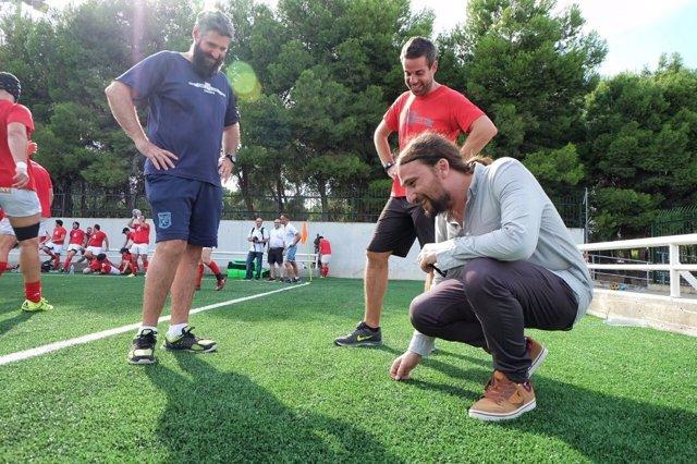 El campo de rugby del cdm david ca ada de zaragoza incrementar sus usos un 30 con el nuevo - Cesped artificial zaragoza ...