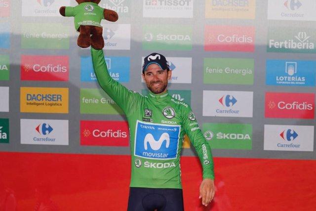 Alejandro Valverde., maillot verde la Vuelta