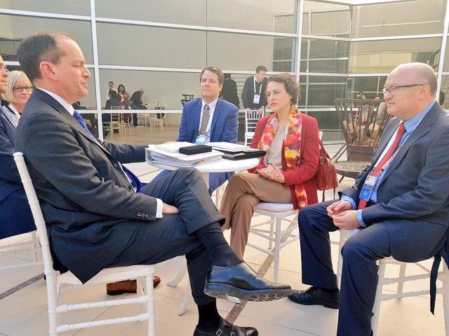 Valerio se reúne con el secretario de Estado de Trabajo de EEUU, Alexander Acost