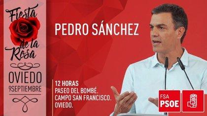 Pedro Sánchez abrirá este domingo en Oviedo una campaña de reivindicación de los logros de su Gobierno