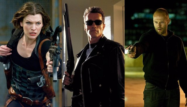 Milla Jovovich, Arnold Schwarzenegger y Jason Statham