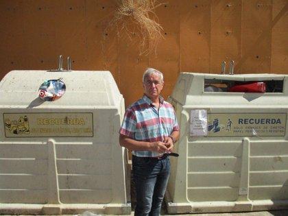 El PSOE pide a la alcaldesa de Teruel que incremente la frecuencia de limpieza y recogida de los contenedores de basura