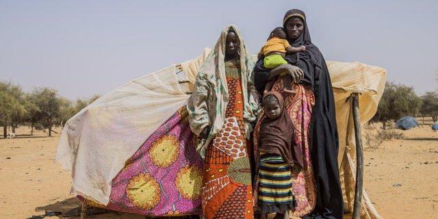Desplazados por la violencia en Malí
