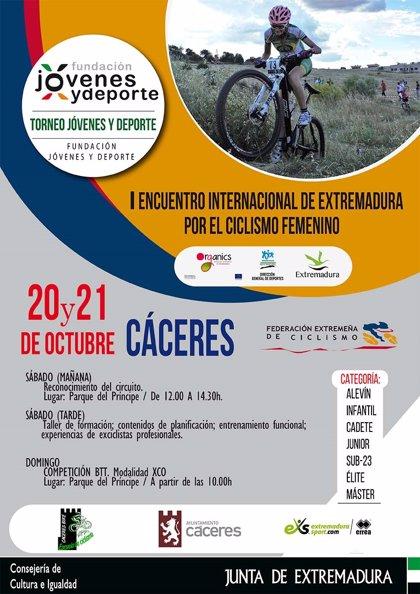 Un encuentro de ciclismo femenino en Cáceres pretende reivindicar el papel de la mujer en este deporte