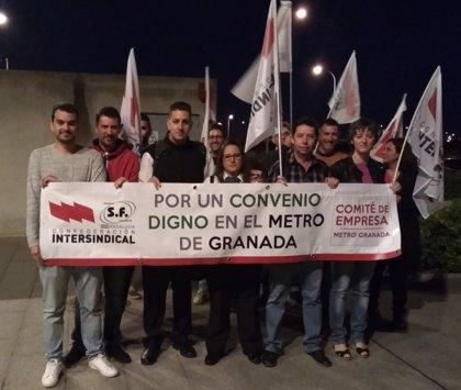 Trabajadores del metro de Granada cifran en un cien por cien el seguimiento del primer paro parcial