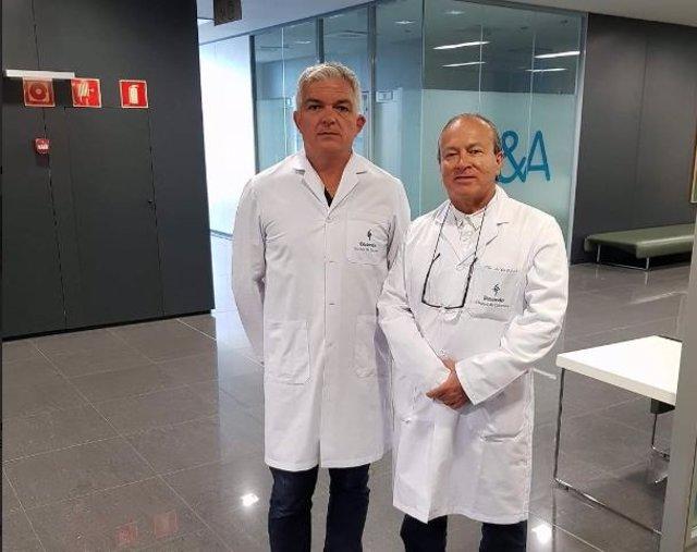 Stephane Pierre Ramare y doctor Alfonso Riojas