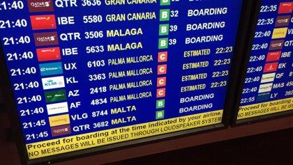El mal tiempo obliga a desviar a Palma tres vuelos procedentes de Reino Unido con destino Menorca