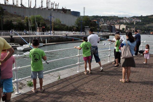 Escuela de pesca del Consorcio de Aguas Bilbao Bizkaia.