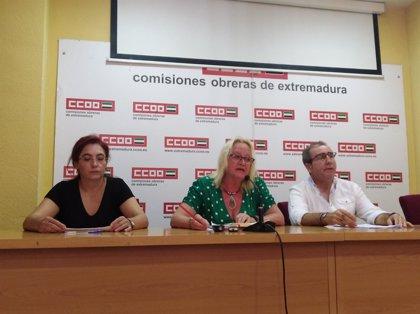 """CCOO Extremadura reclama un plan especial de empleo y """"mayor"""" vigilancia para """"reducir"""" la siniestralidad laboral"""