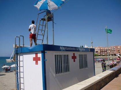 La bandera amarilla ondea este lunes en seis playas de San Javier y Cartagena