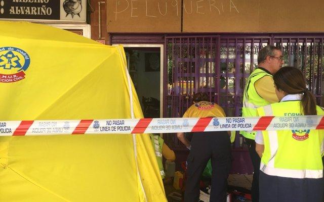 Un hombre dominicano mata presuntamente a su expareja a puñaladas en una peluquería en Villaverde (Madrid)