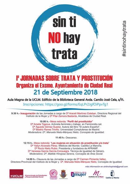 Ciudad Real acogerá las I Jornadas sobre Trata y Prostitución el 21 de septiembre