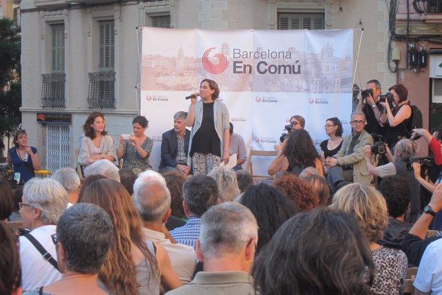 Ada Colau en un acto de BComú, en una imagen de archivo