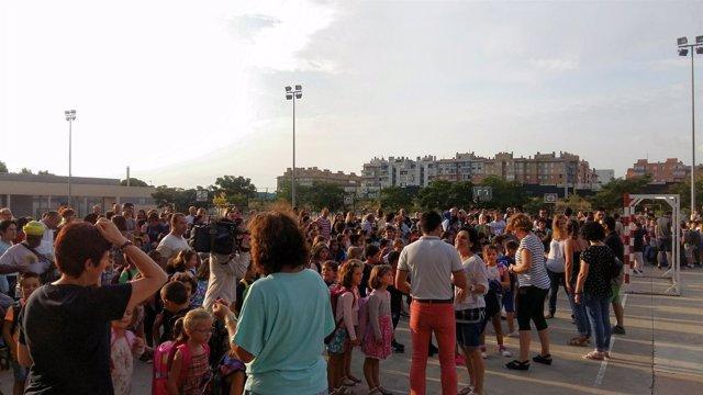 Primer día de colegio en la comunidad aragonesa