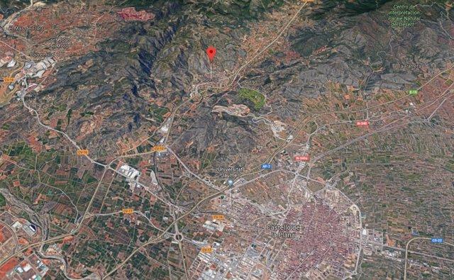 Localización de Borriol (Castellón)
