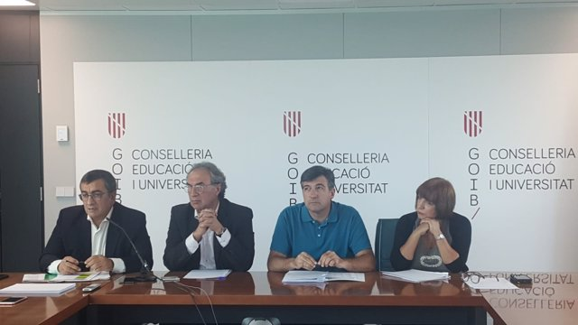 Antoni Morante, Martí March, Jaume Ribas y Rafaela Sánchez en rueda de prensa