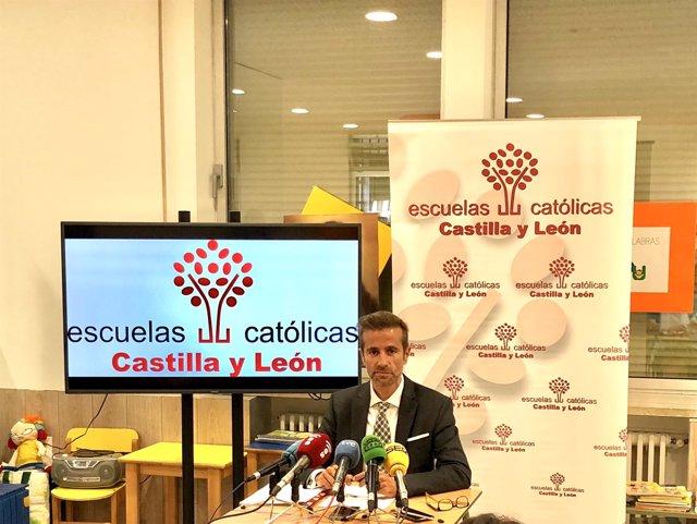 Leandro Roldán, secretario de Escuelas Católicas Castilla y León, 10-9-18