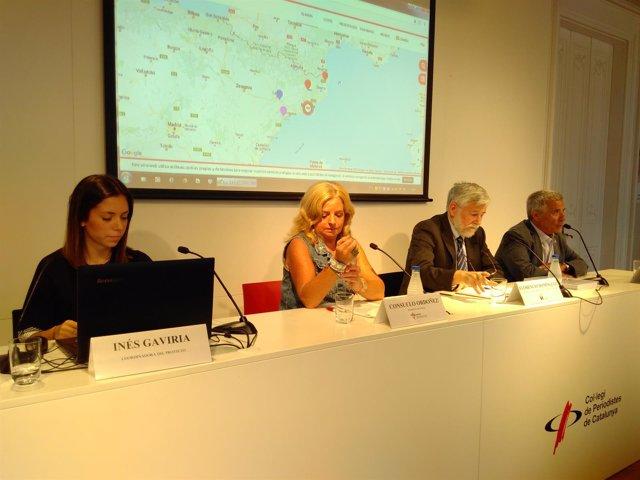 Inés Gaviria, Consuleo Ordóñez, Florencio Domínguez y José Vargas