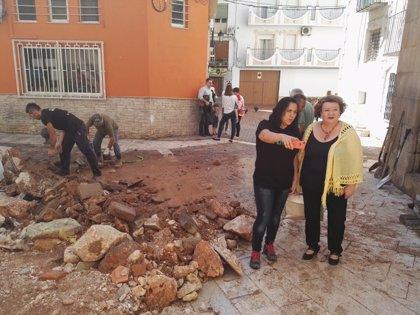 La Diputación de Jaén colaborará en las tareas de limpieza y valoración de daños por las lluvias en Beas de Segura