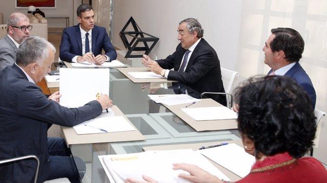 Reunión de Pedro Sánchez y agentes sociales sobre la FP