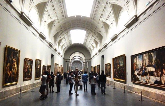 Interior dell Museo del Prado, Madrid (España)