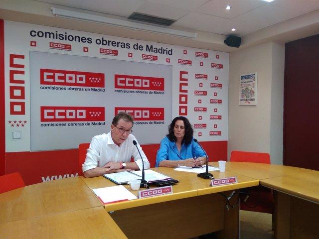 Jaime Cedrún hoy en rueda de prensa con Elisa Revilla