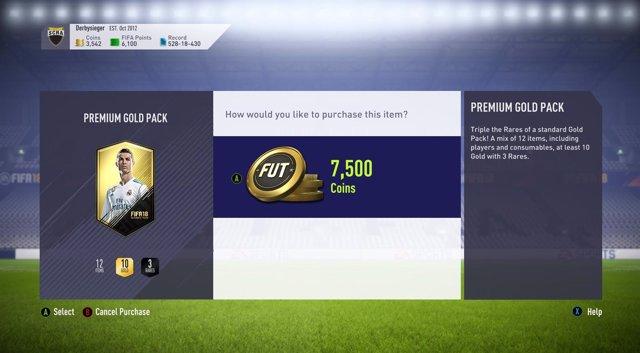 FIFA 18 cajas de botín