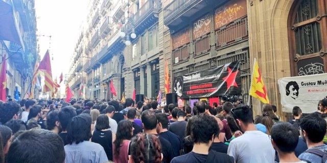 Manifestación de la izquierda independentista en Barcelona