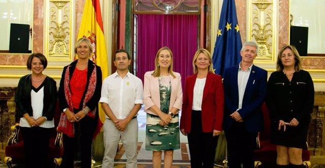 Núria Riera, Enric Casanova y Nel Martí defienden en el Congreso la modificación de la Ley de apoyo a los emprendedores