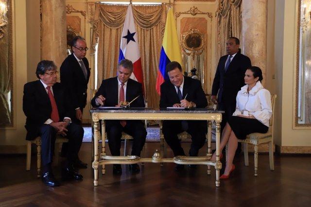 Iván Duque y Juan Carlos Varela