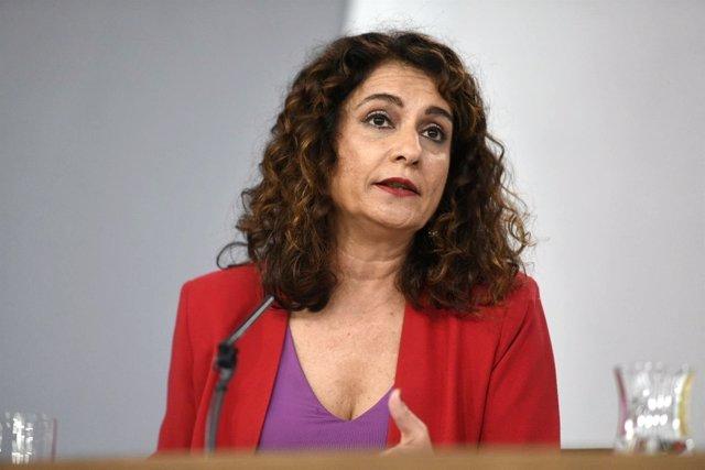 Rueda de prensa de la ministra de Hacienda, María Jesús Montero