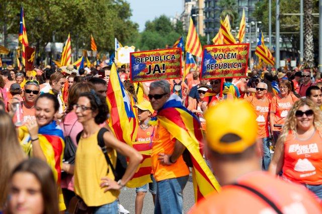 Manifestació per la Diada 2018 a Barcelona