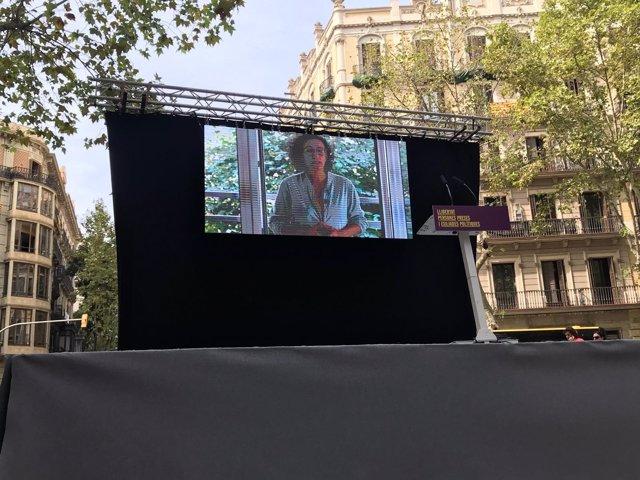 Marta Rovira (ERC) en un mensaje de de video por la Diada 2018