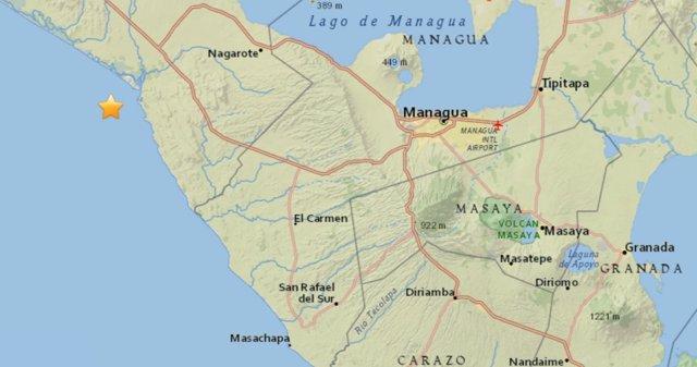 Terremoto de 5,3 en Nicaragua