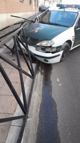 Accidente coche Guardia Civil en Carranque