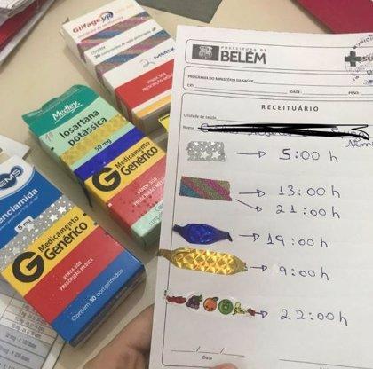Una estudiante de medicina diseña una creativa receta para un paciente analfabeto en Brasil