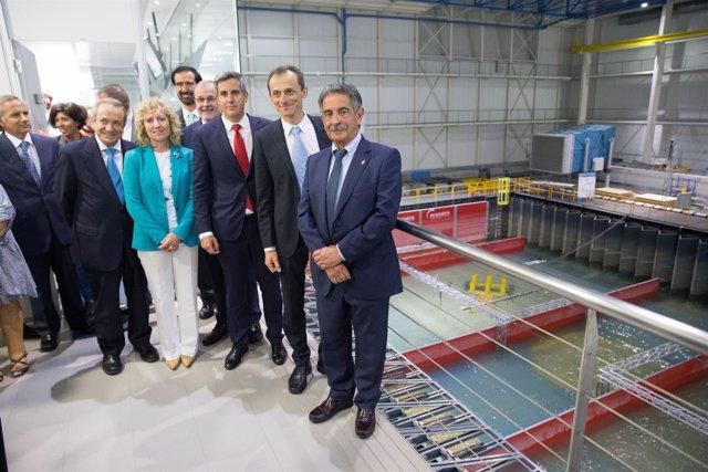 Visita de Pedro Duque y autoridades regionales al IH
