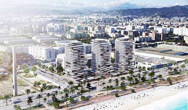 Proyecto Torre del Río. Metrovacesa. Málaga capital