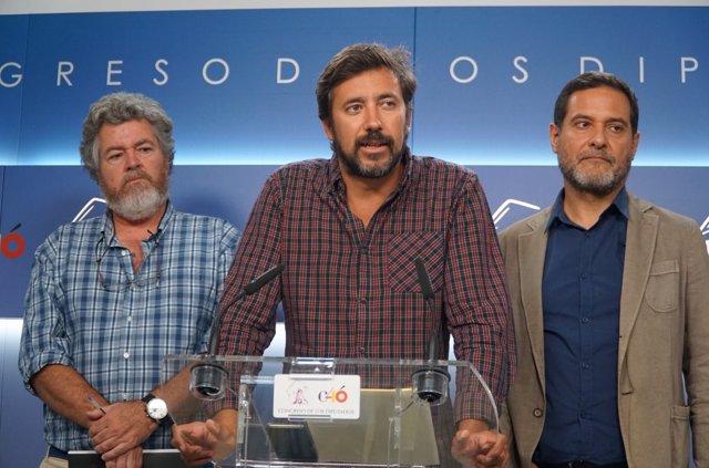 Los diputados Gomez Reino, Vendrell, López de Uralde