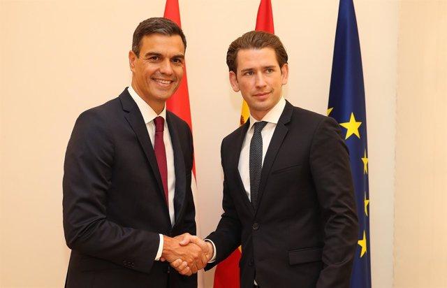 Sánchez se reúne con el primer ministro de Austria, Sebastian Kurtz