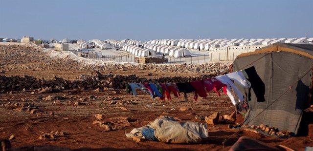 Campo de desplazados sirios en Atimah, Idlib