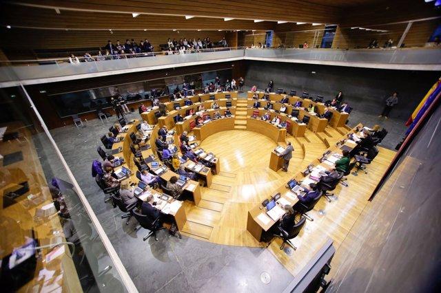 Sesión del pleno del Parlamento de Navarra
