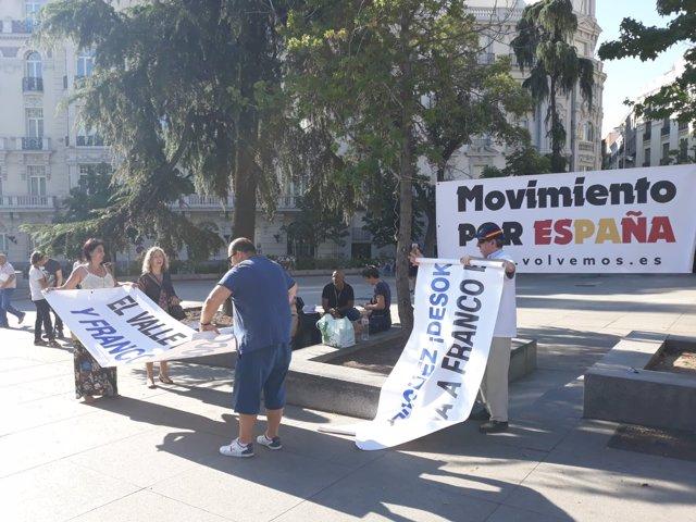 Protesta contra la exhumación de Franco