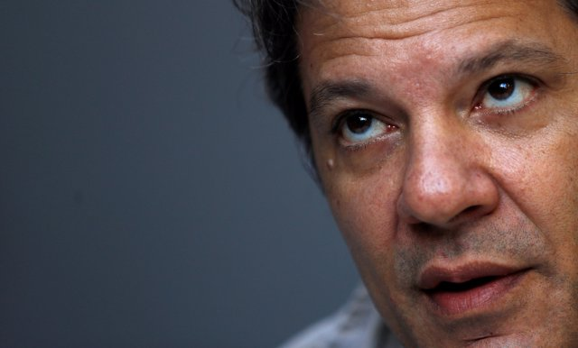 Former Sao Paulo mayor Fernando Haddad attends an interview with Reuters in Sao