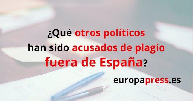 Otros políticos acusados de plagio fuera de España